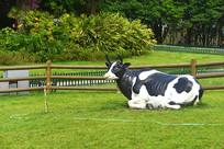 成都奶牛广场标志性雕塑-奶牛