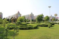 小城镇的绿化