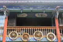 云南建水古城-中式小楼栏杆