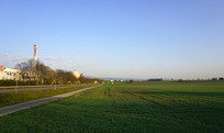德国法兰克福郊区的早晨