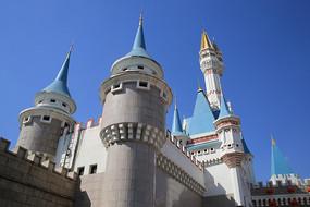 俄罗斯尖顶教堂建筑微缩景观
