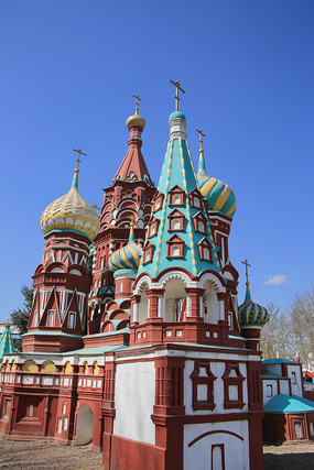 俄罗斯教堂建筑微缩景观