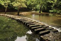 实拍百步桥河流