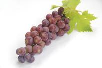 一串绿叶红葡萄