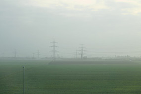 晨雾中的德国法兰克福郊外