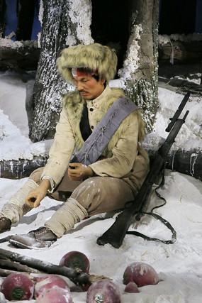 东北抗日联军战士蜡像