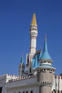 欧洲城堡教堂微缩景观
