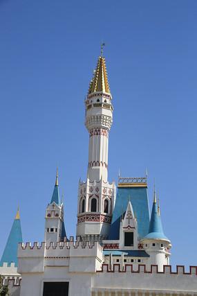 欧洲尖顶城堡教堂微缩景观