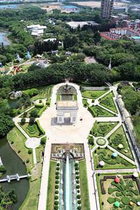 公园景观俯视图