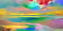 丙烯抽象油画