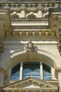 德国柏林国会大厦外墙仰拍