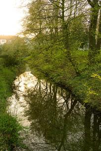德国哈默尔恩城市小河