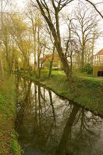 德国童话之路城市哈默尔恩河道