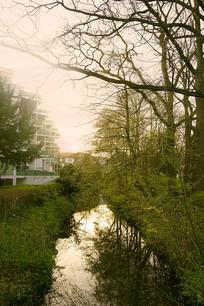 童话之路城市哈默尔恩-小河