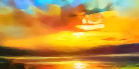 玄关风景油画