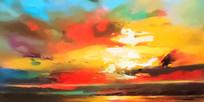 抽象风景欧美装饰画