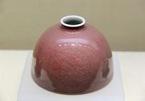 豇豆红釉瓷水丞