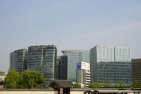 韩国景福宫及首尔城市风光