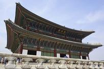韩国景福宫正殿-勤政殿外景