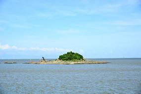 蓝天大海岛屿