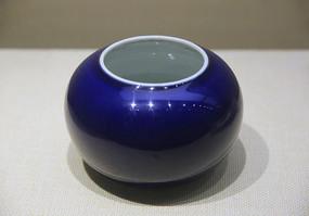 乾隆祭蓝釉瓷水丞瓷罐