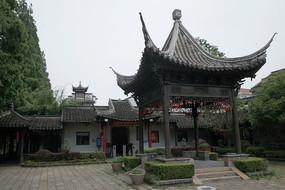 枫泾古镇亭子
