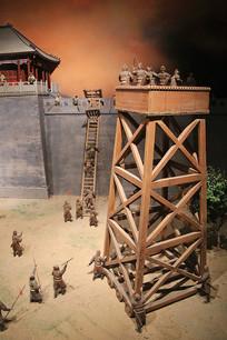 古代攻城云梯模型