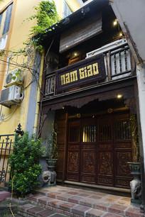越南海防市传统风格餐厅外景