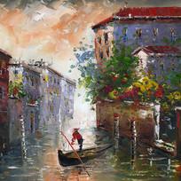 威尼斯风景油画