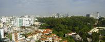 越南胡志明市城市风光全景图