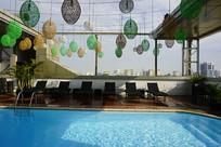 越南胡志明市-露天游泳池