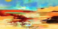 抽象风景装饰画