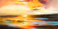 海天一色风景装饰画