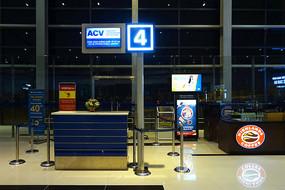越南海防吉碑机场登机值机柜台