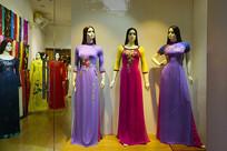 越南胡志明市服装店传统奥黛