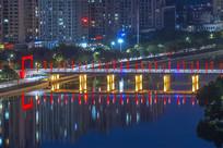 信阳桥梁夜景