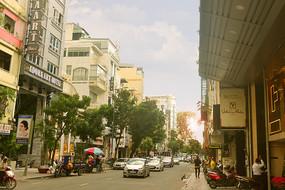越南胡志明市城市中心市区街景