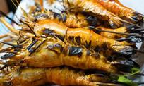 越南特色烧烤湄公河河虾