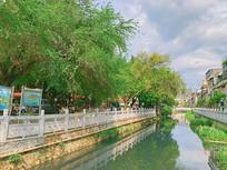 城市河道绿化治理新貌