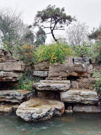 公园假山水设计