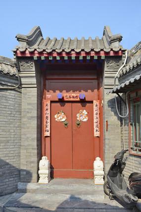 老北京民居大门