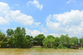 越南湄公河-江心岛屿龙岛风光