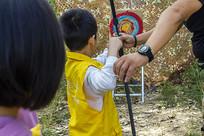 户外运动儿童射箭