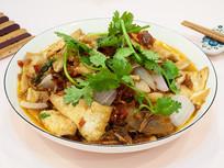 美味菜品回锅肉煎豆腐块