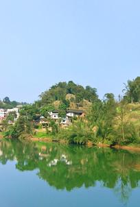 赤水大同古镇山村及大同河自然风光