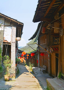 贵州赤水大同古镇石板路老街