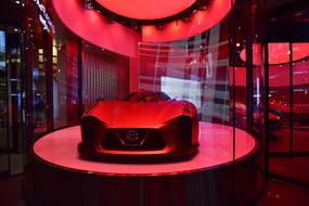 红色调的豪车展厅
