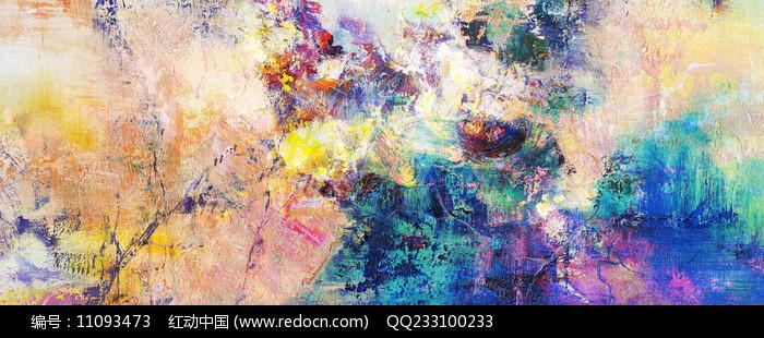 抽象艺术壁画图片