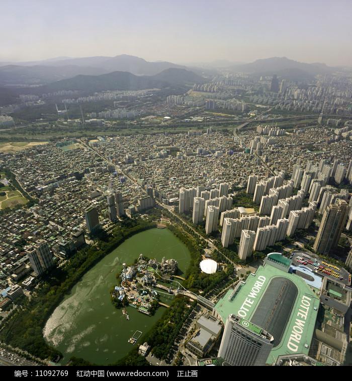 韩国乐天世界及魔幻岛俯拍图片