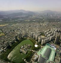 韩国乐天世界及魔幻岛俯拍